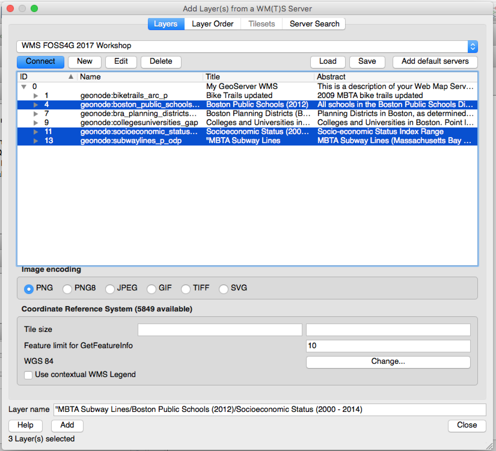 Using GeoNode OGC services with external clients